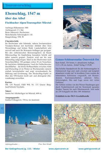 Skitour Ebenschlag - Österreichischer Alpenverein Wien