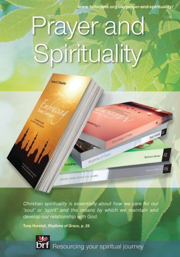 Prayer and Spirituality catalogue - BRF Online Shop