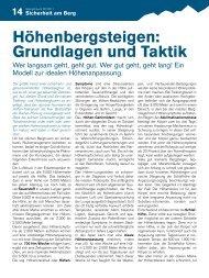 Höhenbergsteigen: Grundlagen und Taktik - Gebirgsverein