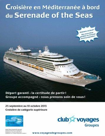 à bord du Serenade of the Seas