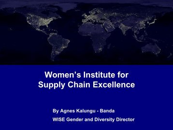 Women in Supply Chain Excellence - Fritz Institute