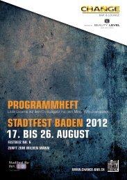 Programmheft StadtfeSt Baden 2012 17. BiS 26. auguSt - Zunft zum ...
