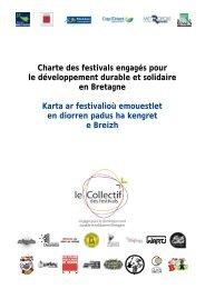 Charte des festivals engagés pour le développement durable ... - Irma