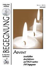 Pfarrblatt 6-13 Advent - Pfarrei Hl. Geist - Mühlried
