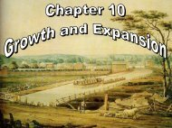 Chapter 10 Notes - Xenia Community Schools