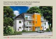 Geschmackvolles Wohnen in Bochum-Weitmar Neubau von 9 ...