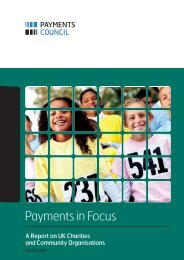 Payments in Focus - Payments Council