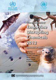 Endocrine Disrupting Chemicals 2012 - World Health Organization
