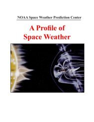 A Primer on Space Weather - Space Environment Center - NOAA