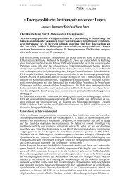 Energiepolitische Instrumente unter der Lupe - Die Beurteilung ...