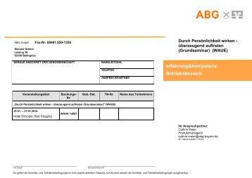 erfahrung&kompetenz; Betriebsbereich - ABG