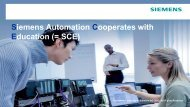 Siemens Automation Cooperates with Education (SCE)