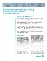 Female Genital Mutilation/Cutting: A statistical overview and ... - Unicef