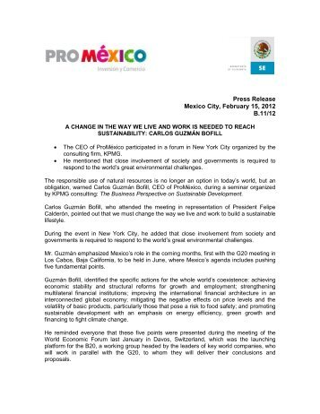 Press Release Mexico City, February 15, 2012 B.11/12