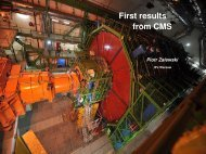 First physics from CMS - LHC