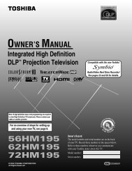 Users Manual - Specs and reviews at HDTV Review