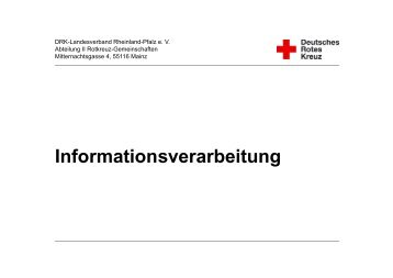 04-3 Informationsverarbeitung - Bildungsinstitut - DRK