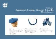 Accessoires de mode, vêtements & textiles - Bleu de Lectoure