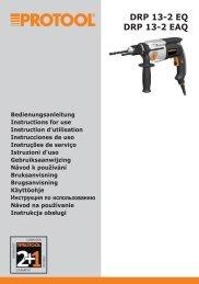 DRP 13-2 EQ DRP 13-2 EAQ - Protool GmbH