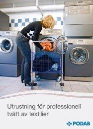 Utrustning för professionell tvätt av textilier - Podab
