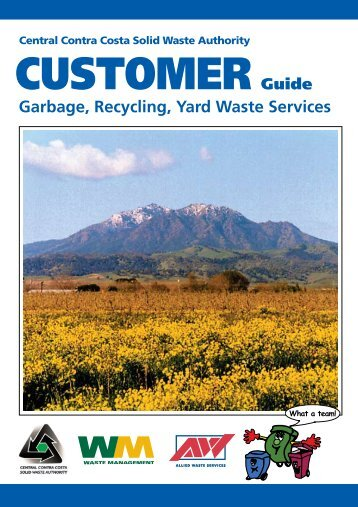 Central Contra Costa Solid Waste Authority Customer Guide