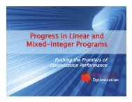 Progress in Linear and Mixed-Integer Programs