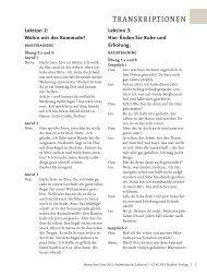 Menschen hier A2.1 AB Transkriptionen 1-12 - Hueber