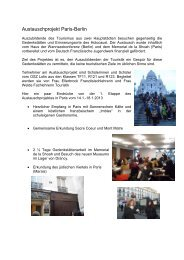 Schüleraustauschprojekt Paris - Berlin 2013 - OSZ Lotis Berlin