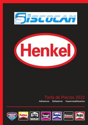 catalogo y tarifa henkel 2010 - Siscocan