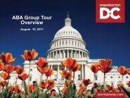 ABA Group Tour Overview - American Bus Association