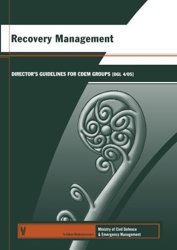 Recovery Management - Ministry of Civil Defence and Emergency ...