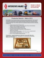 Productos Nuevos - Marzo 2013 - Interstate McBee