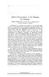 Judicial Interpretation of the Mandate - Zeitschrift für ausländisches ...