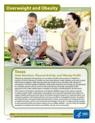 State of Texas Nutrition, Physical Activity, and Obesity Profile