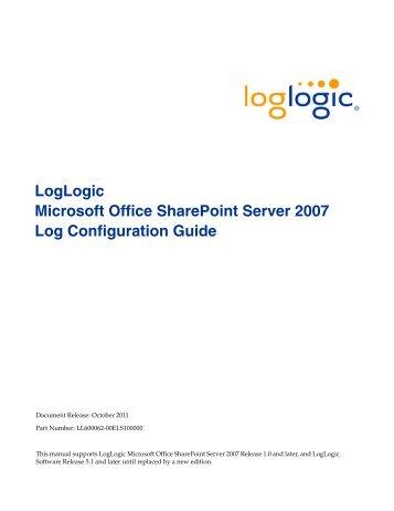 LogLogic Microsoft Office SharePoint Server 2007 Log ...