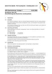 Sportordnung, Anlage Länderpokal - Deutscher Pétanque Verband ...