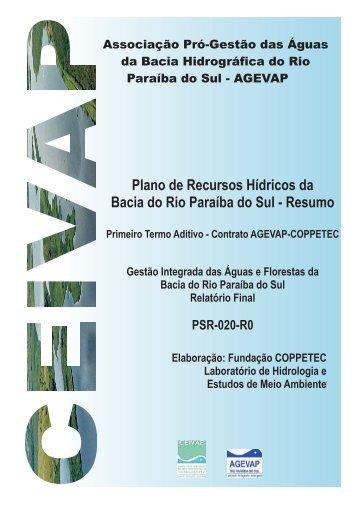 Plano de Recursos Hídricos da Bacia do Rio Paraíba do Sul - ceivap