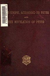 GOSPEL ACCORDING - The Preterist Archive
