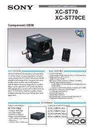 Ccd b/w video camera module xc-st70 xc-st70ce - Sony