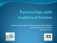 Partnerships with traditional healers - Hospice Palliative Care ...