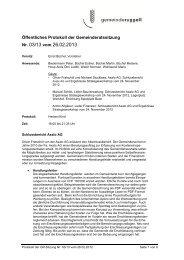 Öffentliches Protokoll der Gemeinderatssitzung Nr. 03/13 vom 26.02 ...