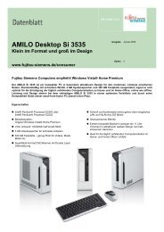 AMILO Desktop Si 3535 Klein im Format und groß im Design