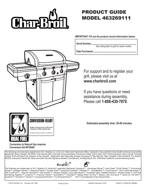 463269111 English Char Broil Grills