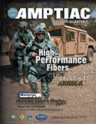 AMPTIAC Quarterly, Vol. 9, No. 2, Summer/Fall 2005 - Advanced ...