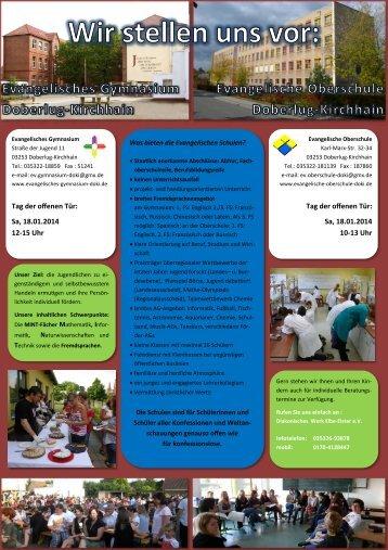 Infozettel im PDF-Format - Evangelisches Gymnasium