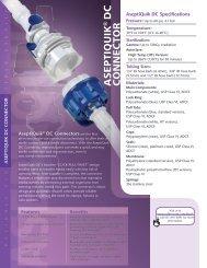 Aseptiquik DC Connectors - Colder Products Company