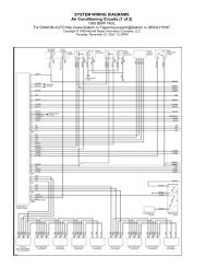 SYSTEM WIRING DIAGRAMS Air Conditioning Circuits (1 of 2)