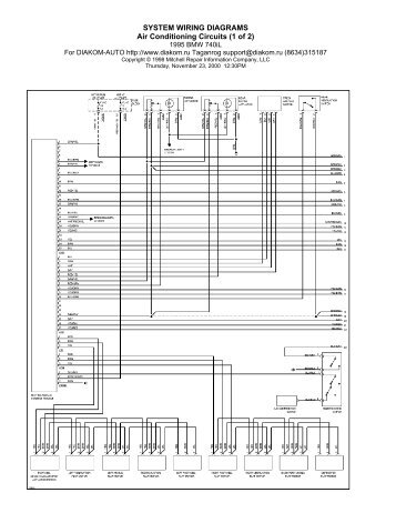 circuit diagrams for multi wiring harness ii e39 5879 bmw retrofit 1993 Camaro Dash Wiring Diagram system wiring diagrams air conditioning circuits (1 of 2)