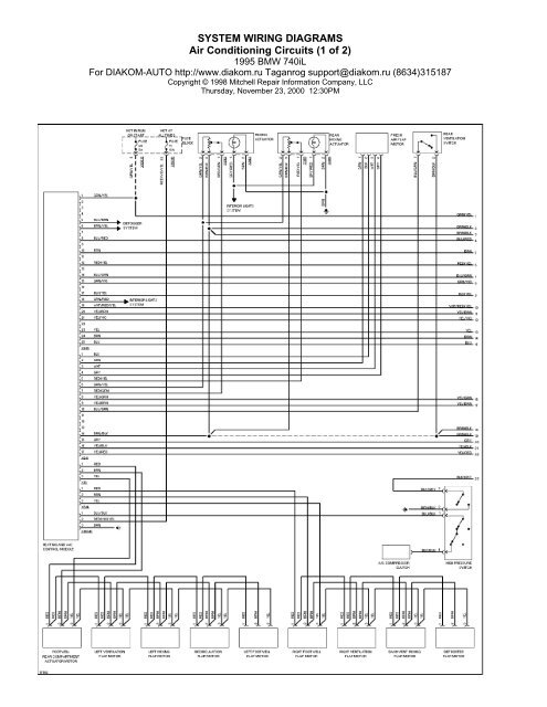 [DIAGRAM_38EU]  SYSTEM WIRING DIAGRAMS Air Conditioning Circuits (1 of 2) | 1998 Bmw 740i Wiring Diagram |  | Yumpu