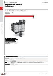 ANSTEUERN 2 Wegeventile Serie 9 ISO 5599/1